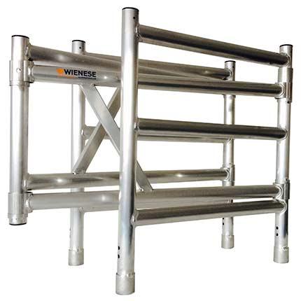Aluminium vouwsteiger expander opzetstuk